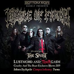 biglietti Cradle of Filth